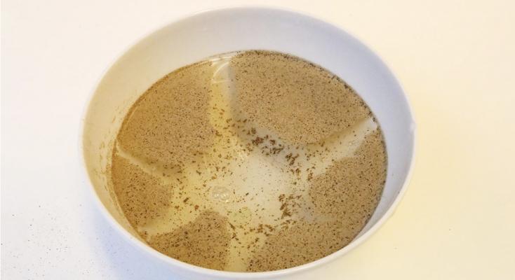 pepper på vann, eksperiment